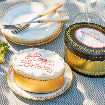 Happy Birthday Cake in a Tin